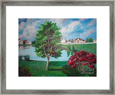 somewhere in Hilliard Framed Print by Soumya Bouchachi