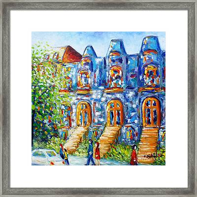 Somewhere In Montreal - Cityscape Framed Print