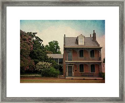 Somewhere In Natchez Framed Print by Terry Eve Tanner