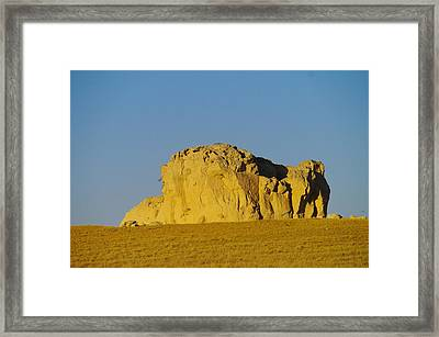 Somewhere In Southern Wyoming Framed Print by Jeff Swan