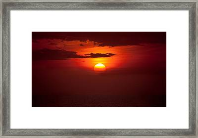 Somewhere In The Bahamas Framed Print