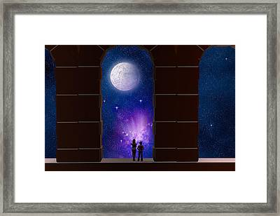 Somewhere In Time And Space Framed Print by Carol and Mike Werner