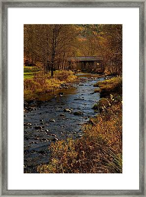 Somewhere In Vermont Framed Print by Don Dennis
