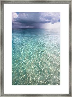 Somewhere Is Rainy. Maldives Framed Print