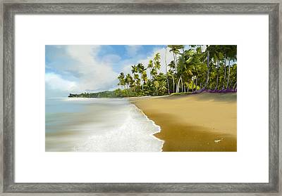 Framed Print featuring the digital art Somewhere Near Forever by Anthony Fishburne