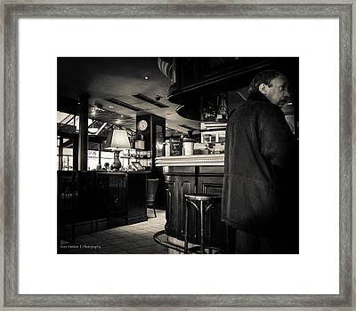 Somewhere On The Seine - For Eugene Atget Framed Print