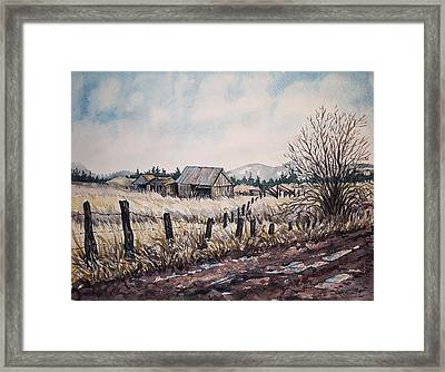 Somewhere Out West  Framed Print
