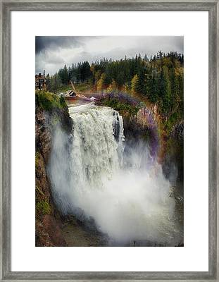 Somewhere Over The Falls Framed Print