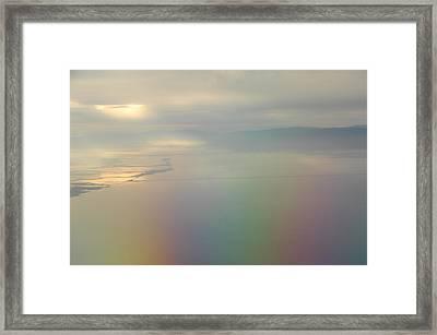 Somewhere Over The Rainbow Framed Print by Donna Blackhall