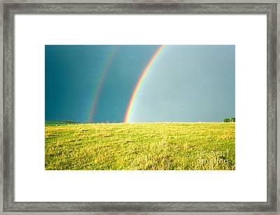 Somewhere Over The Rainbow Framed Print by Virginia Ann Hemingson