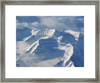 Somewhere Over The Rockies Framed Print by Angie Vogel