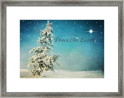 Somewhere -  Peace On Earth Framed Print by Beve Brown-Clark Photography