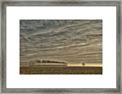 Somewhere There On That Desolate Plain  Framed Print