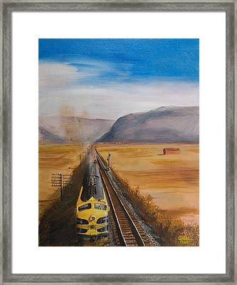 Somewhere West Of Corning Framed Print by Christopher Jenkins