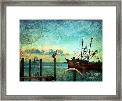 Somewhere...beyond The Sea Framed Print