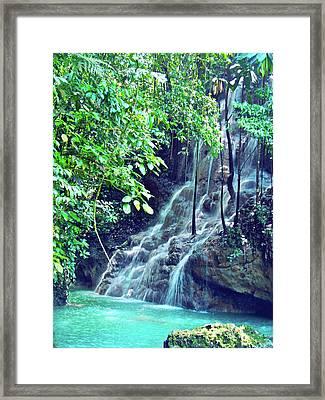 Sommerset Falls Jamaica Framed Print