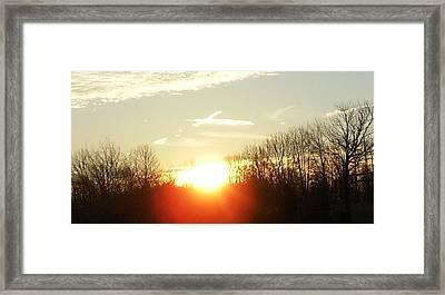 Son Above The Sun Framed Print