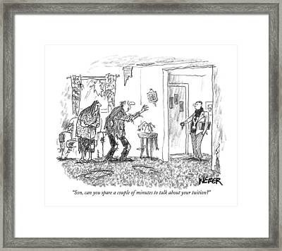 Son, Can You Spare A Couple Of Minutes To Talk Framed Print by Robert Weber