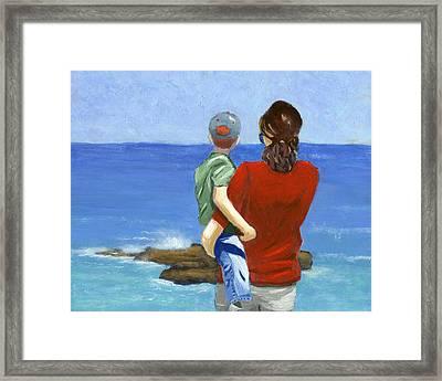 Son Of A Sailor Framed Print by Karyn Robinson