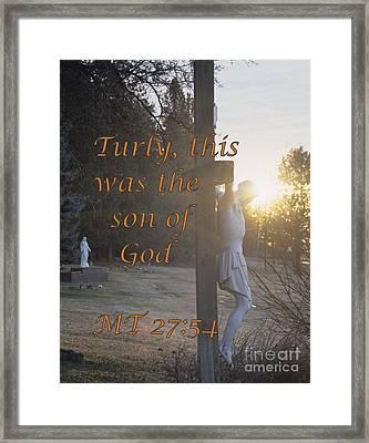 Son Of God Framed Print by Sharon Elliott