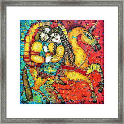 Sonata For Two And Unicorn Framed Print by Albena Vatcheva