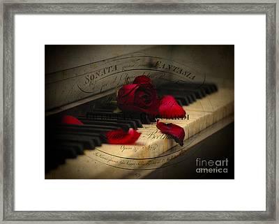 Sonata In Roses Framed Print