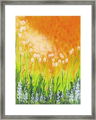 Framed Print featuring the painting Sonbreak by Holly Carmichael