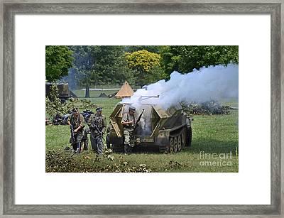 Sonderkraftfahrzeug 251 On Fire Framed Print