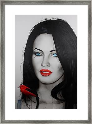 Megan Fox - ' Song Bird ' Framed Print by Christian Chapman Art