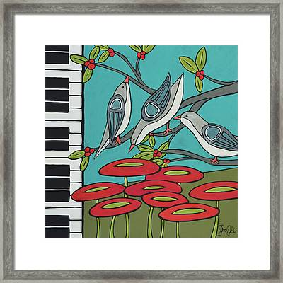Song Birds Framed Print by Shanni Welsh