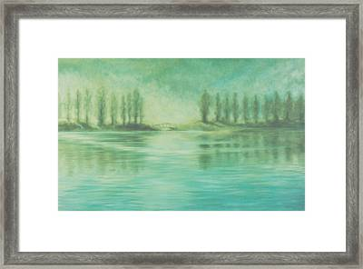 Framed Print featuring the painting Song For Monet by Laurie Stewart