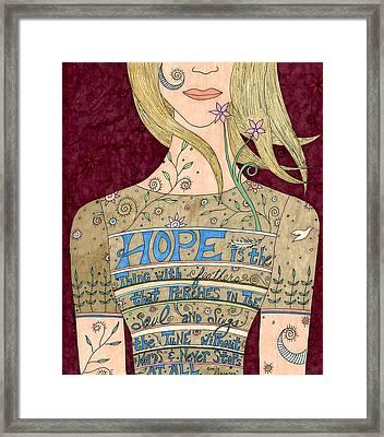 Song Of Hope Framed Print by Valerie Lorimer
