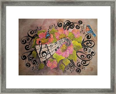 Song Of My Heart And Soul Framed Print