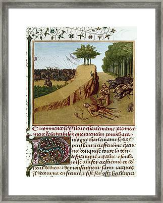 Song Of Roland, 778 Framed Print by Granger