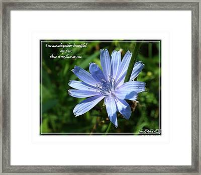Song Of Solomon 4 Verse 7 Framed Print by Sara  Raber