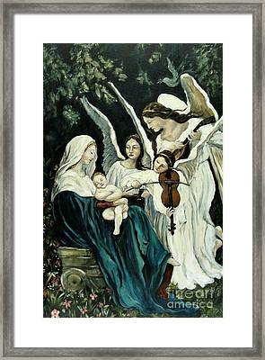 Song Of The Angels Framed Print by Carrie Joy Byrnes