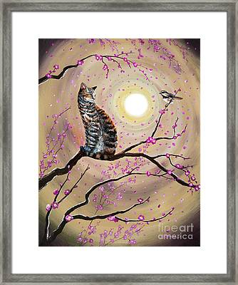 Song Of The Chickadee Framed Print by Laura Iverson