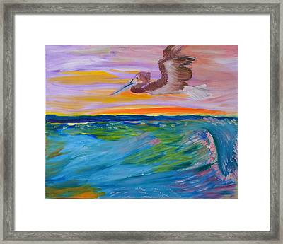 Framed Print featuring the painting Song Of The Sea by Meryl Goudey