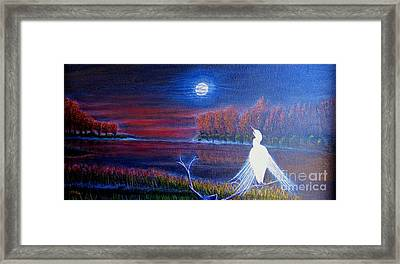 Song Of The Silent Autumn Night Framed Print by Kimberlee Baxter