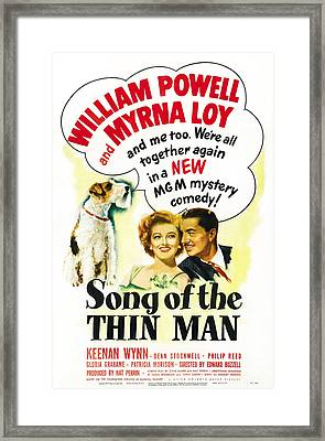 Song Of The Thin Man, Us Postter Art Framed Print by Everett