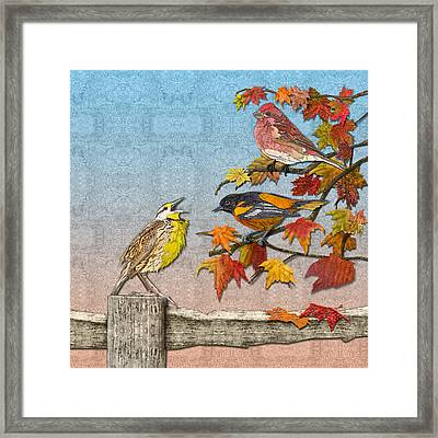 Song To An Autumn Morning Framed Print