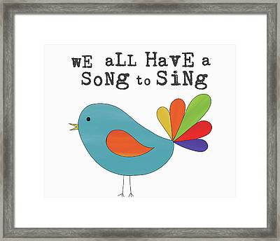 Song To Sing Framed Print