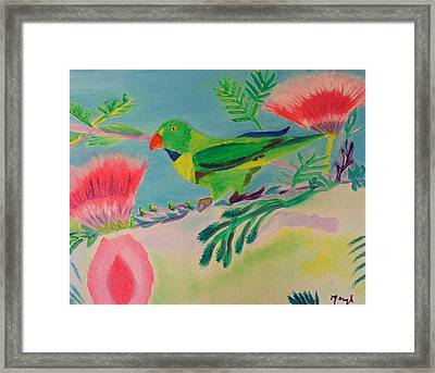 Framed Print featuring the painting Songbird by Meryl Goudey