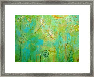 Songs To The Earth In Delight Framed Print