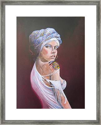 Sonia Framed Print by Ray Agius
