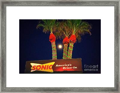 Sonic America's Drive In Framed Print