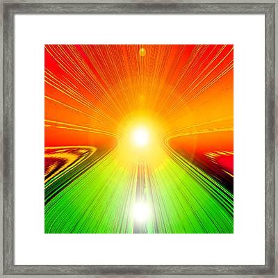 Sonnenaufgang Framed Print by Ramon Labusch