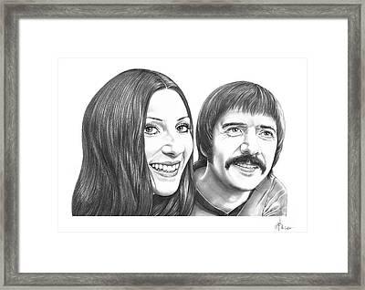 Sonny And Cher Bono Framed Print
