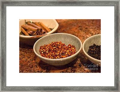 Sonoma California Pickling Spices Framed Print by Iris Richardson
