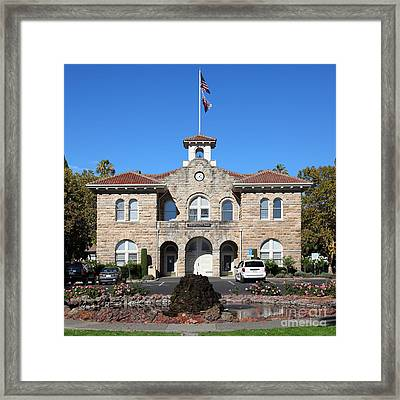 Sonoma City Hall Downtown Sonoma California 5d19260 Square Framed Print by Wingsdomain Art and Photography